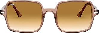 Ray-Ban Unisex Adults Square II RB1973-128151 Sunglasses, Brown, 53.0