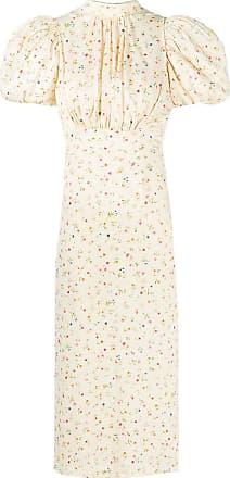 Rotate Vestido midi com estampa floral - Neutro