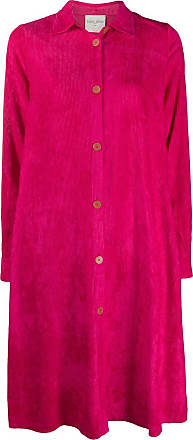 Forte_Forte single-breasted ribbed coat - PINK