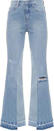 N.Y.B.D. Calça Flare Recortes Jeans N.Y.B.D - Azul