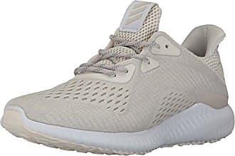 f8172a8e8b adidas Womens Alphabounce em w Running Shoe, Chalk White/Pearl Grey, 9  Medium