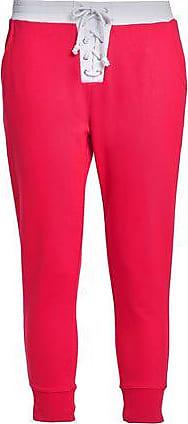 Zoe Karssen Zoe Karssen Woman Lace-up French Cotton-terry Track Pants Red Size L