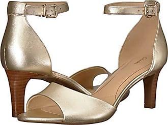 4fea7f4d8795 Clarks Womens Laureti Grace Heeled Sandal Champagne Metallic Leather 060 M  US