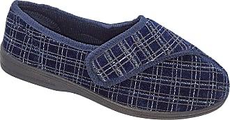 Zedzzz Mens Navy Blue Velcro Machine Wahable Slippers Sizes 7 to 12 (7)
