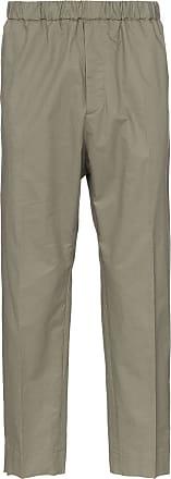 Jil Sander R-priamo cropped cotton trousers trousers - Neutrals