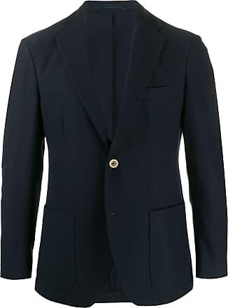 Eleventy herringbone-texture blazer - Blue