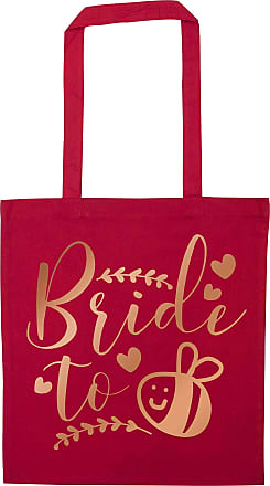 Flox Creative Red Tote Bag Rose Gold Bride to Bee