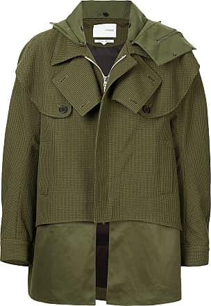 Yoshiokubo oversized houndstooth hunting coat - Green