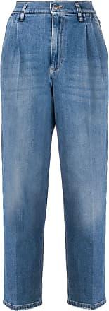 Red Valentino Calça jeans cropped cintura - Azul