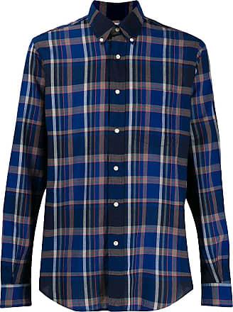 Aspesi Camisa xadrez mangas longas - Azul