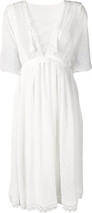 Jovonna London Vestido midi bordado - Branco