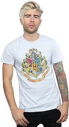 Harry Potter Mens Hogwarts Distressed Crest T-Shirt XX-Large Sport Grey