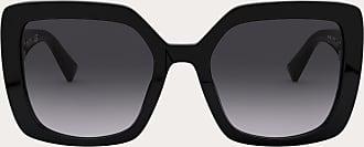 Valentino Valentino Occhiali Squared Acetate Frame With Vlogo Women Black Acetate 100% OneSize