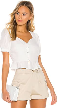 J.O.A. Hook Eye Front Top in White