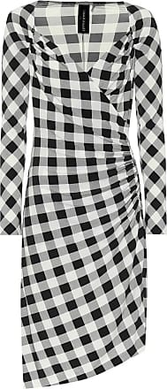 Norma Kamali Exclusive to Mytheresa - Checked jersey asymmetric dress