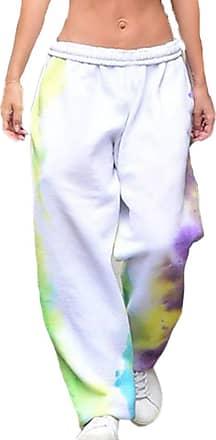 Hellomiko Featured Tie-Dye Slim Cropped Vest/Tie-Dye Casual Loose Sweatpants Womens Street Fashion Sports Wear