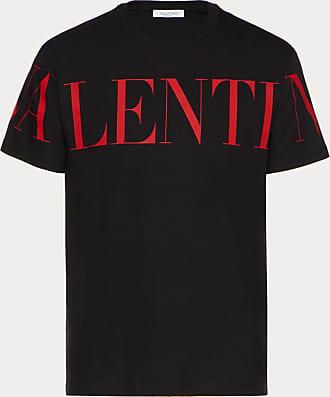 Valentino Valentino Uomo T-shirt Stampa Valentino Uomo Nero/ Rosso Cotone 100% XS