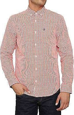 Original Penguin Belan Gingham Shirt Kirschtomate - cotton | large