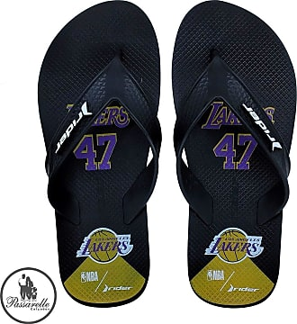 Rider Chinelo Masculino Dedo Rider Street Bold NBA Los Angeles Lakers Estampado Borracha 11585 24950 - Preto/Roxo
