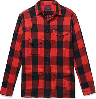 Polo Ralph Lauren Buffalo-checked Cotton-flannel Overshirt - Red