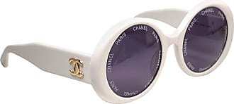 80ef42a33a Chanel New Vintage Chanel Camera Lens Spring summer 1993 White Sunglasses  Made In Italy