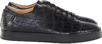 Santoni Sneaker low 20756 Krokodilleder Logo schwarz