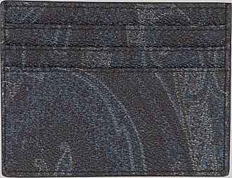 Etro Paisley Kreditkartenetui, Herren, Navyblau