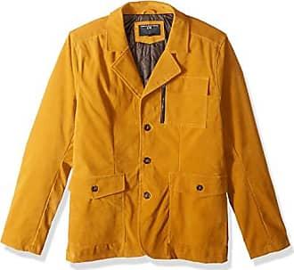 Urban Republic Mens Boys Trendy Pu Suede Jacket, Dijon Mustard, M
