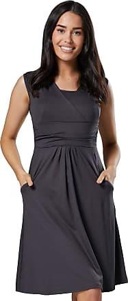Zeta Ville Zeta Ville - Womens Maternity Nursing A-line Dress Pockets - Sleeveless - 500c (Graphite, UK 12, L)