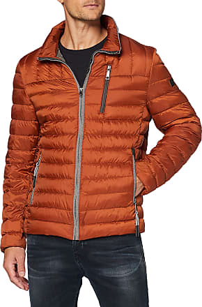 Bugatti Mens 570150-59010 Jacket, Orange (Orange 670), Large (Size: 52)