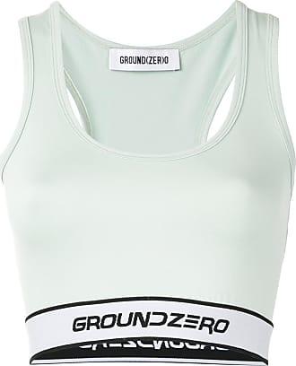 Ground-Zero Blusa cropped com logo - Verde