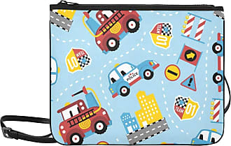 Yushg Kids Handbags Cartoon Cute Transportation Fire Truck Adjustable Shoulder Strap Work Bag Fashion For Women Girls Ladies Clutch Bag Cute Girl Shoulder B