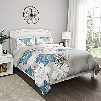 Trademark Bedford Home 3-Piece Set - Enchanted Hypoallergenic Breathable Polyester Microfiber Modern Floral Comforter with Pillow Shams (King)