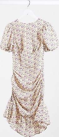 Lola May Blommig ryschad miniklänning-Flerfärgad
