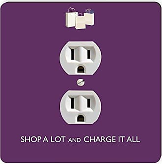 Rikki Knight Shop A Lot & Charge it All Purple Single Outlet Plate