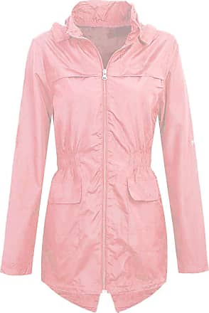 Shelikes Womens Hooded Mac Light Showerproof Rain Jacket