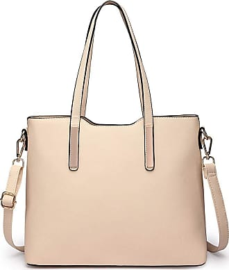 Quirk Three Piece Tote Shoulder Bag And Clutch Beige