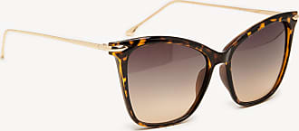 Sole Society Womens Dawn Cat Eye Sunglasses With Metal Detail Honey Tortoise One Size Plastic From Sole Society