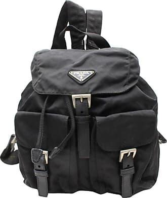 59c67e5fcfbc Prada Double Tessuto Pocket 867836 Black Nylon Backpack