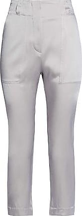 Brunello Cucinelli Brunello Cucinelli Woman Satin Tapered Pants Light Gray Size 42