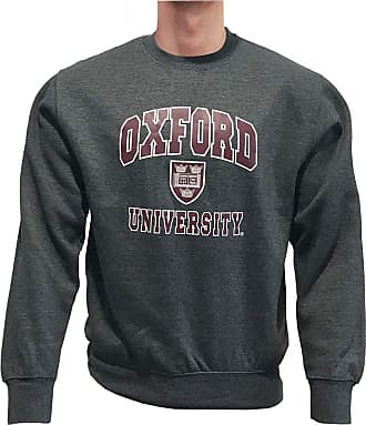Oxford University Printed Sweatshirt Official Licensed Unisex Mens Womens Super Soft Sweater Black Top Jumper + One Free T-Shirt (XXL, Charcoal/Burgundy)