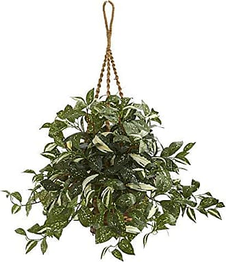 Nearly Natural 8582 26 Florida Beauty Artificial Hanging Basket Silk Plants Green