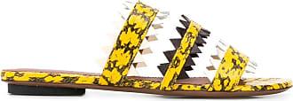 L'autre Chose Sandália de tiras com efeito pele lagarto - Amarelo