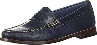 G.H. Bass & Co. Womens Whitney Penny Loafer, Blue 906, 7.5 M US