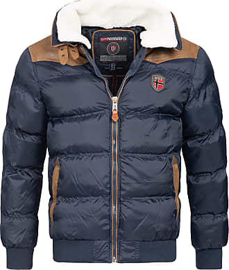 Geographical Norway Emei Mens Winter Jacket Quilted Jacket - Dark Blue, XXL