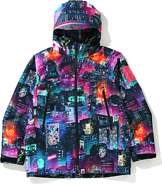 A Bathing Ape Neon Tokyo hooded jacket