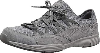 Skechers Womens Seager-Zip LINE-Fixed Bow Quarter Fit Slip-On Sneaker, Grey, 5 M US