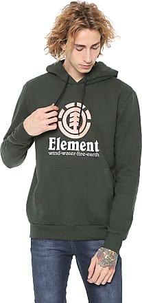 Element Moletom Flanelado Fechado Element Vertical Verde