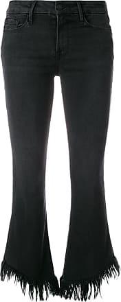 Frame Denim frayed cropped jeans - Black