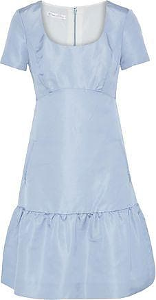 Oscar De La Renta Oscar De La Renta Woman Fluted Silk-faille Dress Light Blue Size 4